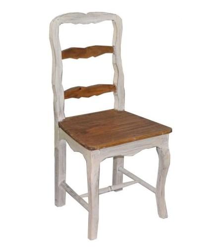 Wspaniały Drewniane krzesło francuskie w stylu vintage retro białe TN43