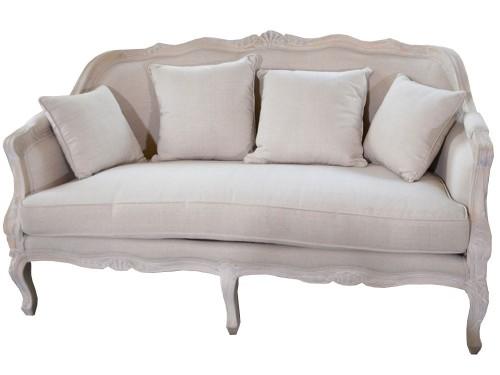 Kanapa W Stylu Prowansalskim Sofa Do Salonu W Kolorze Beżowym