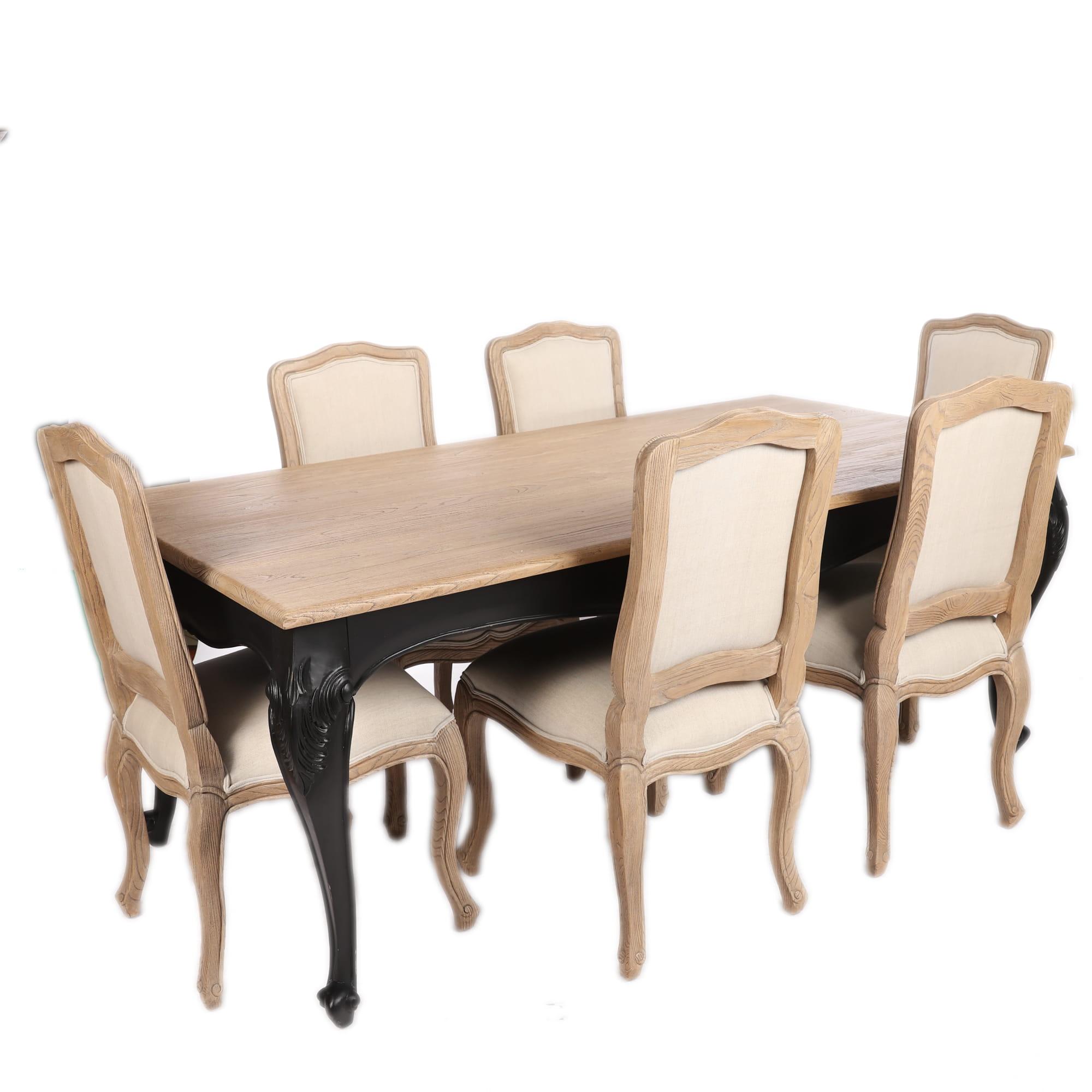 Stół Z Krzesłami Komplet Mebli W Stylu Prowansalskim
