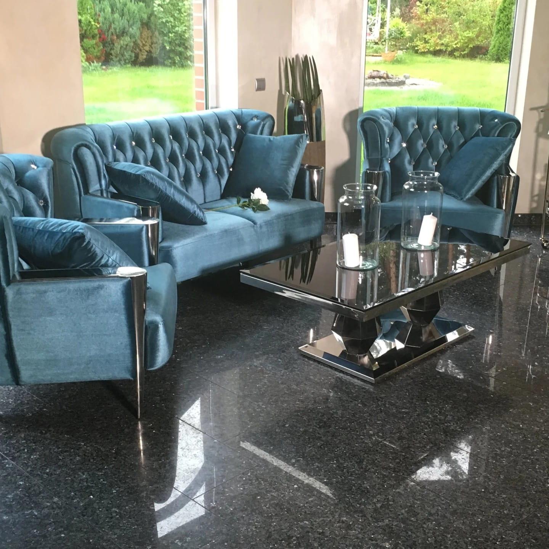 Szklana ława Do Salonu Stolik Kawowy W Stylu Glamour Hampton