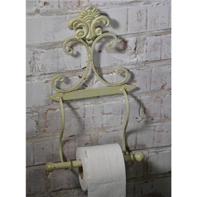 Metalowy Uchwyt Na Papier Toaletowy Retro Ecru