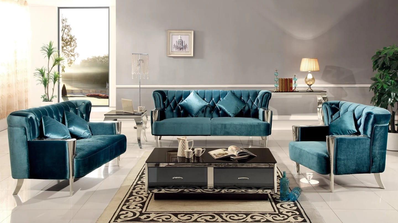 Designerska Pikowana 1 Os Sofa W Stylu Nowojorskim Glamour
