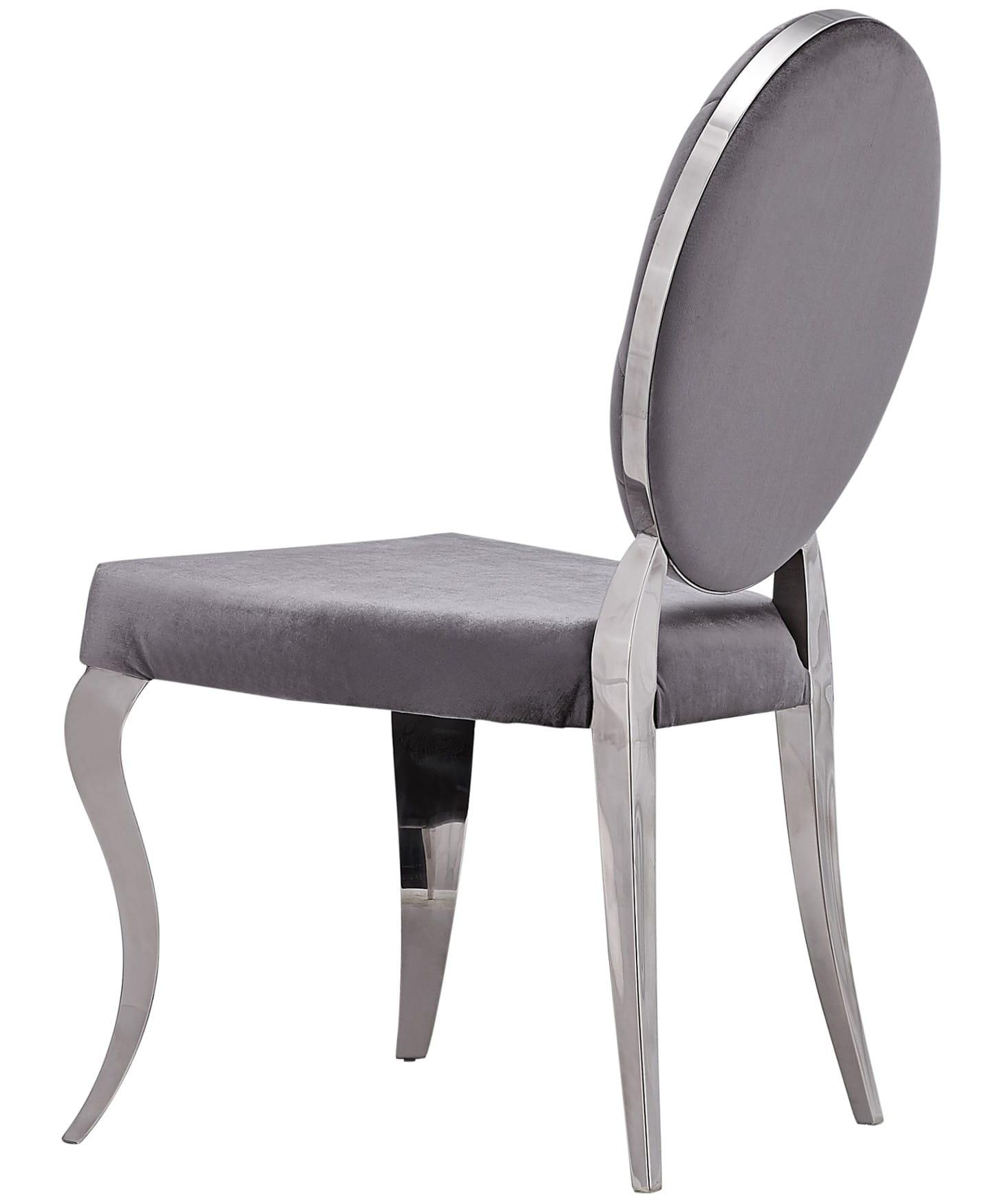 Niewiarygodnie krzesło stylowe glamour pikowane szare krzesła PW13